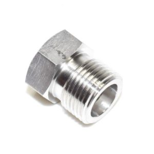 Superior N-876A-SS O2 Stainless Steel Hex Nut Adapter CGA 540