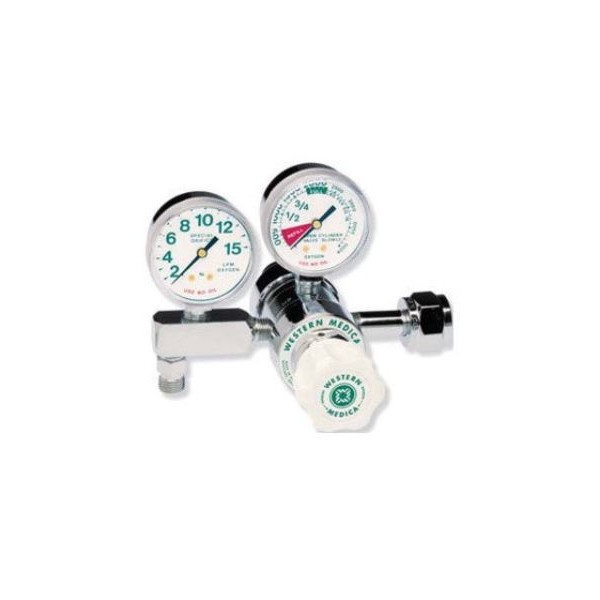 Western M2-540-5FGH Two Stage O2 Regulator Hand Tight