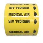 Gas Markers Medical Air Yellow Background Black Text
