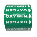 Gas Markers Oxygen Green Background White Text