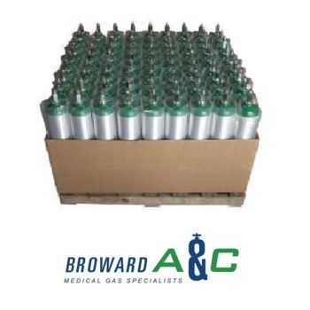 Pallet of 81 E Aluminum Cylinders