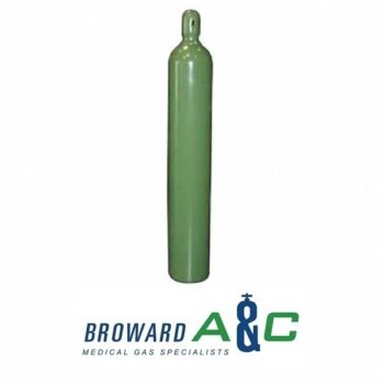 Medical Oxygen H Cylinder, 7,079 L Capacity, 9 13/64 in Length, 9 13/64 in Width, 51 in Height
